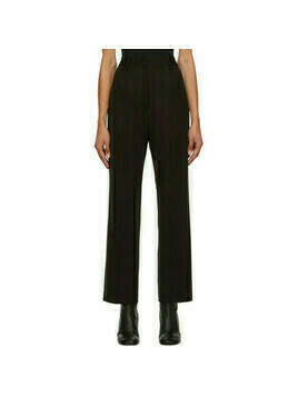 MM6 Maison Margiela Brown Wool Slim Trousers