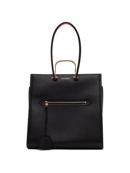 Alexander McQueen Black The Story Tote