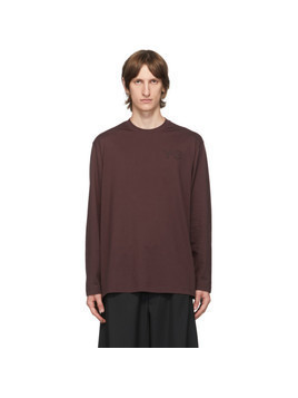 Y-3 Burgundy Classic Logo Long Sleeve T-Shirt