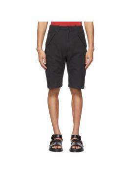 R13 Black Military Cargo Shorts