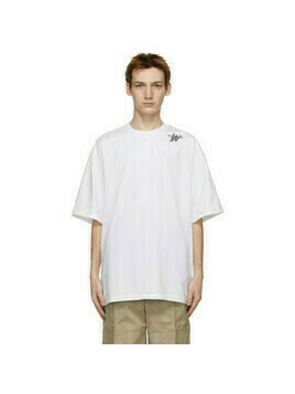 We11done White Oversized Logo T-Shirt