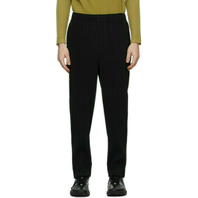 Homme Plisse Issey Miyake Black Pleats Bottoms 2 Trousers