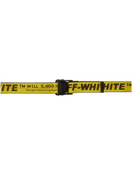 Off-White Yellow Classic Industrial Belt