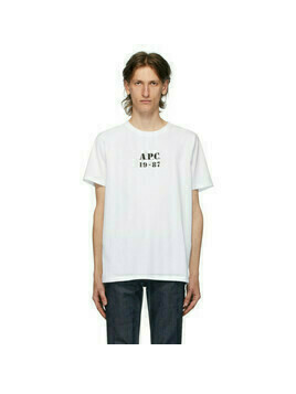 A.P.C. White Georges T-Shirt