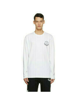 Moncler Genius 2 Moncler 1952 White UNDEFEATED Edition Logo Long Sleeve T-Shirt