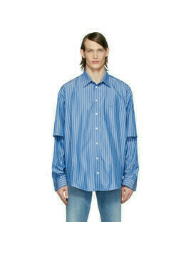 Balenciaga Blue and White BB Shirt