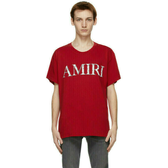 AMIRI Red Bandana Logo T-Shirt