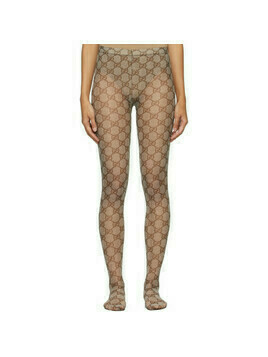 Gucci Beige GG Tights