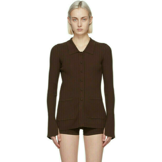 Live the Process Brown Tuxedo Cardigan
