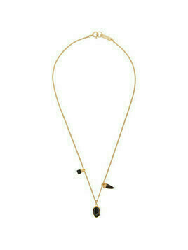 Isabel Marant Gold and Black Multi Charm Necklace