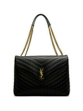 Saint Laurent Black Large Loulou Bag
