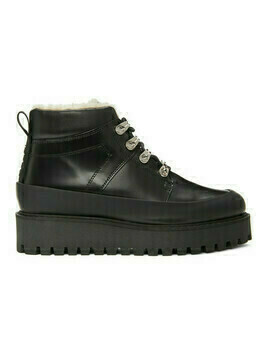 GANNI Black Brush Off City Hiking Boots
