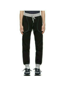 Junya Watanabe Black and Grey Reigning Champ Edition Cotton Lounge Pants