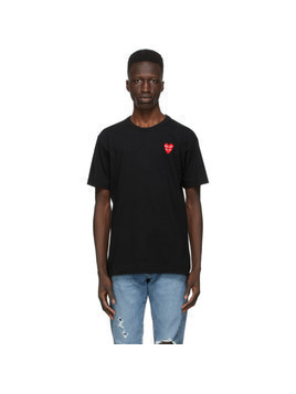 Comme des Garcons Play Black Layered Double Heart T-Shirt