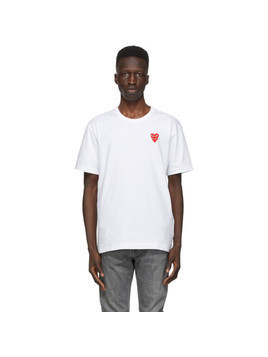Comme des Garcons Play White Double Heart T-Shirt