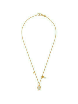Isabel Marant Gold and White Multi Charm Necklace