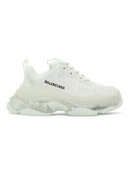 Balenciaga White Clear Sole Triple S Sneakers
