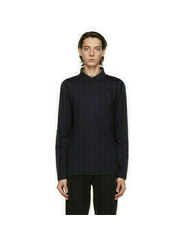 Boss Navy Pirol Long Sleeve Polo