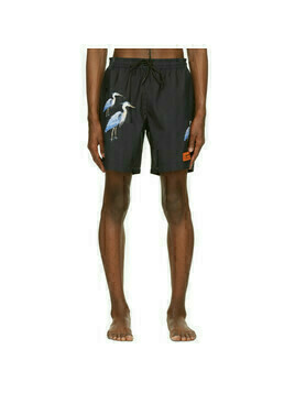 Heron Preston Black Herons Swim Shorts