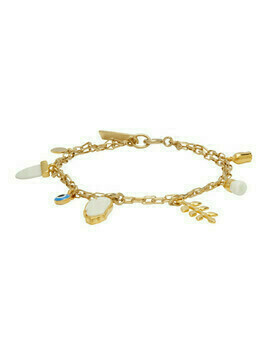Isabel Marant Gold and Off-White Multi Charm Bracelet