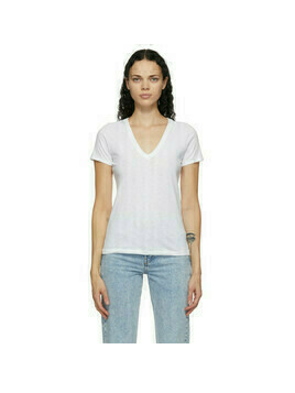 rag and bone White The Slub V-Neck T-Shirt