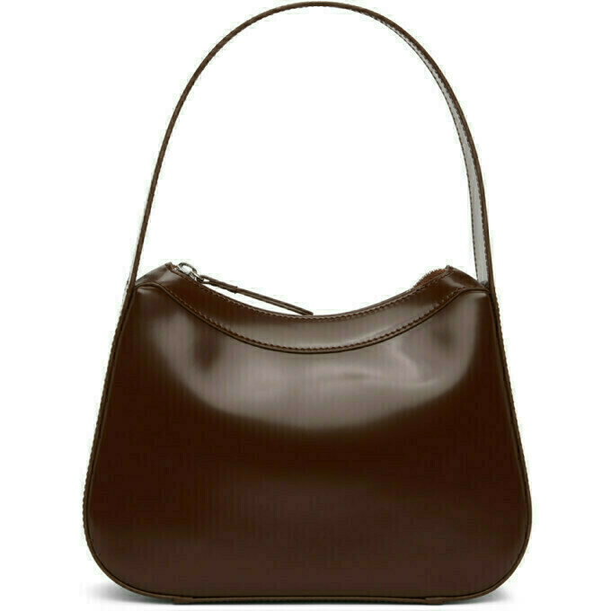 BY FAR Brown Patent Kiki Bag