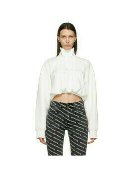 Alexander Wang White Mock Cropped Turtleneck