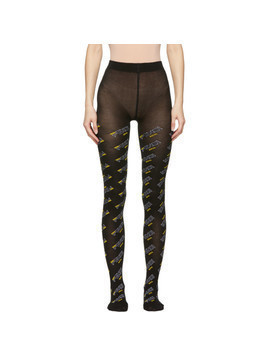 Fendi Black Fendi Mania Tights