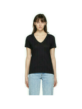 rag and bone Black The Slub V-Neck T-Shirt