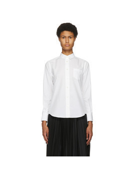 Sacai White Pleated Back Shirt