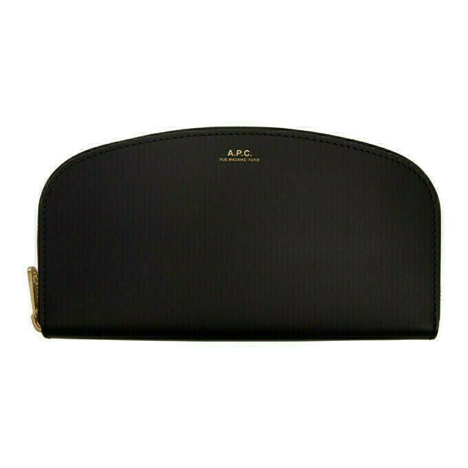 A.P.C. Black Demi-Lune Wallet