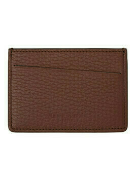 Maison Margiela Brown and Burgundy Leather Card Holder