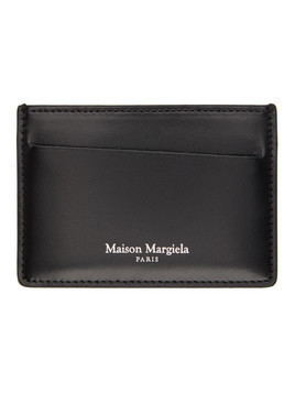 Maison Margiela Black Croc Leather Card Holder