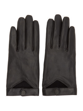 Mackage Black Lambskin Gabia Gloves