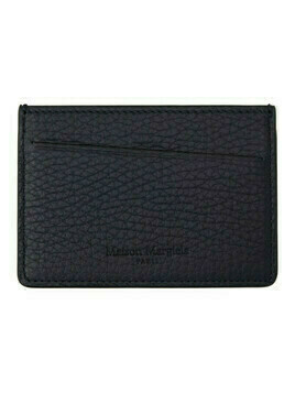 Maison Margiela Navy Leather Card Holder