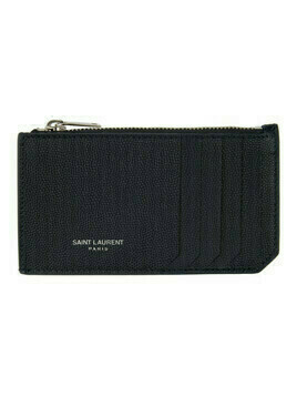 Saint Laurent Navy Rive Gauche Fragment Card Holder