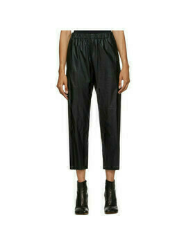 MM6 Maison Margiela Black Faux-Leather Pants