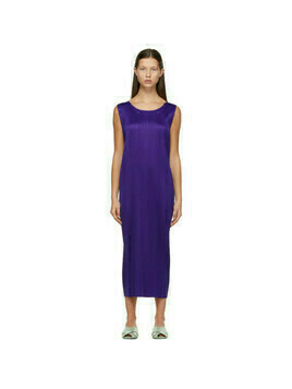 Pleats Please Issey Miyake Purple Monthly Colors December Dress