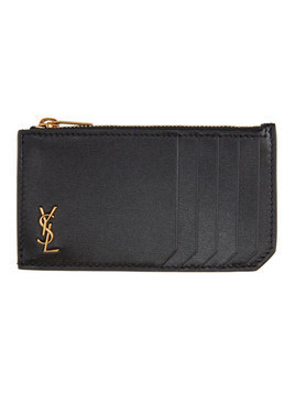 Saint Laurent Black Fragment King Palm Card Holder