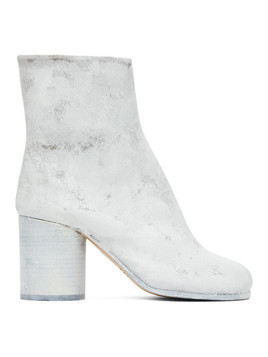 Maison Margiela SSENSE Exclusive White Painted Tabi Boots