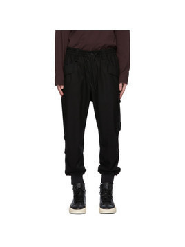 Y-3 Black Classic Wool Flannel Cargo Pants