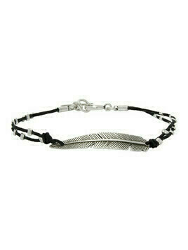 Isabel Marant Silver and Black Feather Bracelet