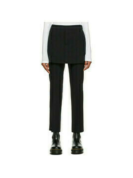 Opening Ceremony Black Skirt-Effect Trousers