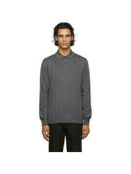 A.P.C. Grey Jerry Long Sleeve Polo