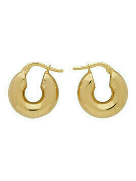 Jil Sander Gold Hoop Earrings