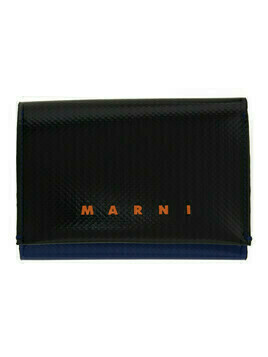 Marni Black and Blue Tribeca Trifold Wallet