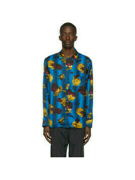 Opening Ceremony Blue Satin Floral Shirt