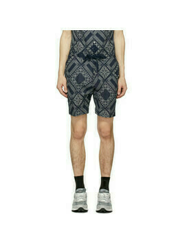 Officine Generale Navy and White Bandana Phil Shorts