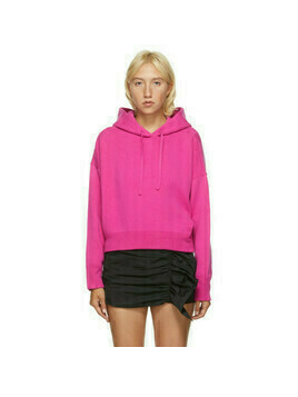 Valentino Pink Wool and Cashmere Crop Hoodie