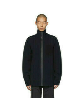 Bottega Veneta Navy Scuba Double Sweater